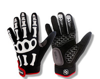 Outdoor sports Cycling gloves Bike Bicycle Sporting Gloves Skull breathness Full Finger gloves