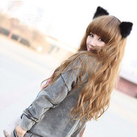 Star leopard print cat ear hair bands plush ears hair accessory