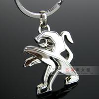 4s peugeot emblem car keychain key ring chain laser lettering 1 408