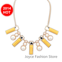 Min Order $10,New 2014 Vintage Fashion Statement Necklaces for Women,sweet Luxury Flowers Rhinestone Beads Gem necklaces,N39