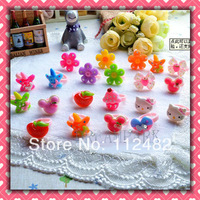50pcs Mix Girl's Children's Accessories Kids rings birthday Party gift Jewelry lots