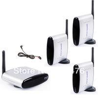Hotsales,2.4GHz Audio Video AV Wireless 1 Sender 3 Receiver PAT220 with IR remote extender+ original plug with free ship