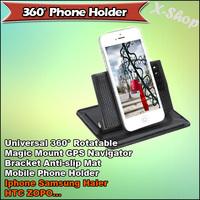 Universal 360 Degree Rotatable Magic Mount Car GPS Navigator Bracket Anti-slip Mat Mobile Phone Holder
