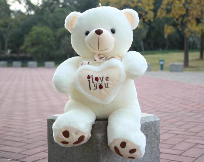 Stuffed & Plush Toys 90cm LOVE Big Plush Teddy Bear Soft Gift for Valentine Day Birthday(China (Mainland))
