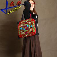 Handmade embroidery bag embroidered women's handbag old circuit unique vintage bag