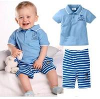 new fashion2014 summer girls boys children clothing set t-shirt within pants 2pcs suit