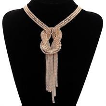 Fashion Jewelry Elegant 9k Yellow Gold Filled European Style Sweater Necklace(China (Mainland))