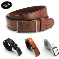 2014 Newest Men's Belt Male PU&Cowskin Strap with Metal Buckle Men Casual Artificial Leather Fashion Belt free shipping