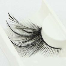 New 1 pair handmade show black False feather lashes Party Costumes Fake lashes makeup artistic tool winged eyelashes Y-35(China (Mainland))