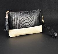 2014 new  women handbag Genuine leather Chain crocodile Day clutch Tassel mini handbags shoulder bag messenger bag Free shipping