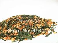 Free Shipping 1000g Premium Brown Rice Green Tea Genmaicha Sencha with the rice