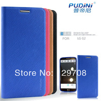 For LG Optimus G2 D802 Ultra thin PUDINI Fragrant Series Finger Print Texture Flip PU Leather Kick Stand Case1pcs/lot