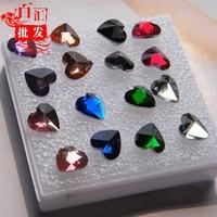 Heart acrylic diamond bling stud earring female small accessories