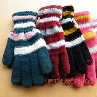 Thickening Women fingers gloves full finger gloves winter faux wool gloves 12pcs/lot