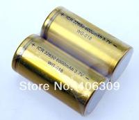 2pcs Golden Color ICR 3.7V 6000mah 32650 Li-ion rechargeable Battery Without PCB