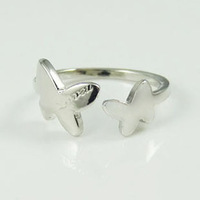 TR03 / Butterfly Ring White Gold Plated Free Shipping