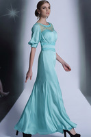 New Elegant Special Occasion Fiesta Wedding Evening Dress Long Prom Formal Cocktail Party Dresses Bridal Gown Mermaid Lace Tulle