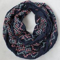 Free shipping Europe fashion style spring autumn neckerchief EMB scarf Ring navy Embroidery  scarves cotton men women