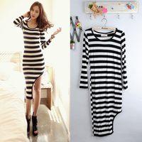 2014 new  A-1848 spring  summer dress fashion women clothes  stripe slim  sexy  dress women  dress