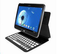 Original 5mm Thin Mute Aluminum Stand Leather Wireless Bluetooth Keyboard Cases For Samsung Galaxy 10.1 Tab 2 P5100 Tab 3 P5200
