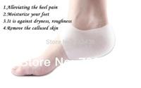 Silicone heel protector sleeve unisex moisturizing Insoles relieve heel pain crack Insoles moisture heel sock  (2 pieces=1 Pair)