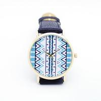 New 2014 Aztec style men women sports leather wrap quartz watches