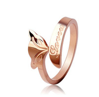 TR04 / Fire Fox Ring Rose Gold Plated Free Shipping