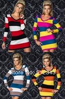 2014 Low Price Long Sleeve Mini Party Dress Sexy Club Wear Dress Fashion Women Skintight Dress Wholesale,Drop Shipping SKY-222