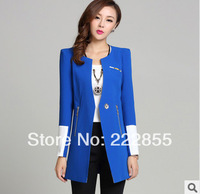 Korea spring 2014 New dress OL small suit,fashion long-sleeved dress patchwork suit female blazers DH2328