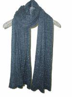 Free shipping  fashion style for women spring autumn winter scarf  long scarves  shawl warm Denim blue beading