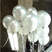 Free Ship 100pc/Lot 10' Inch1.5g  Silver Balloon Christmas Outdoor Decoration Christmas Supplies Latex Balloon