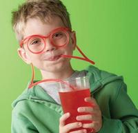 2 PCS DIY Crazy Drinking Straw Creative Fun Straw Glasses Multi-colors Straw Eyeglass Frames Novelty Items