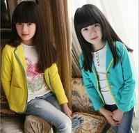 Retail Fashion Style Children Formal Clothing Spring&Autumn girls Regular Popular Coat Cotton Free Shipping