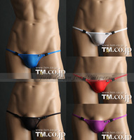 2014 SEXY new style TM belt lock button men's Hipster thong  free shipping  underwear