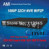 32ch network video recorder nvr ip camera Support P2P ONVIF 2.2  3G HD 960H NVR video recorder 1080P NVR