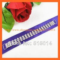 Free Shipping !150pcs/lot Solid Three Line Crystal Connectors for Swimwear , Rhinestone buckles