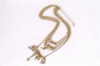 """SP079  """"once upon a time"""" Gold Necklaces four in one set Dresser wholesale/drop shipping free shipping"""