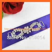 Free Shipping !150pcs/lot  Flower Crystal Connector for Bikini ,Rhinestone shoe buckle