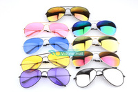 wholesale 24 colors 2014 fashion frog mirror sunglasses men & women glasses Brand Designer Vintage Unisex