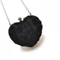 H1725 FF Heart Shaped Chain sweet lolita Sling Bag bridesmaid clutch Free shipping wholesale Drop shipping J713