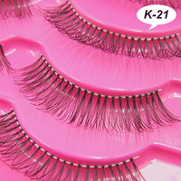 K-21 models  white cotton handmade false eyelashes high quality wholesale store