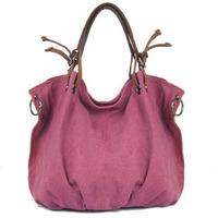 2014 New Arrival Retro Vintage Casual Style Large Canvas Tote Bag For Women Fashion Handbag Shoulder Messenger Bag Hobo
