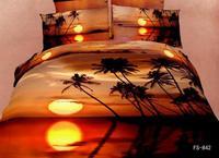 New Hot Beautiful 4PC 100% Cotton Comforter Duvet DOoona Cover Sets FULL / QUEEN / KING bedding set 4pcs flower sunshine sunset