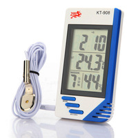 LCD Indoor and Outdoor Digital Temperature Humidity Tester Clock Thermometer Hygrometer KT-908