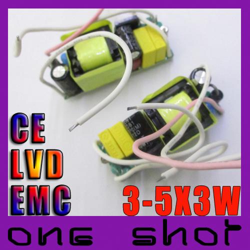 [5pcs] CE EMC LVD Rubycon 900mA 3 - 5 X 3W LED Driver Lighting Transformers(China (Mainland))