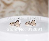 Korean heart earrings no pierced ear clip charms ear cuffs C-type earring ear cuff adjustable earring FREE SHIPPING LM-HC37