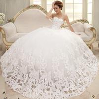 W-10 Bride Wedding Dresses Beatiful Sleeveless Elegant Sweet Princess Wrapped Chest Plus Size Ball Gown Wedding Dresses Novia