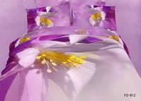 New Hot Beautiful 4PC 100% Cotton Comforter Duvet DOoona Cover Sets FULL / QUEEN / KING bedding set 4pcs flower purple yellow o9