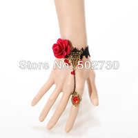 Free shipping minimal Mixed styles $5  Handmade Gothic vintage royal rose lace bracelets bangles & DIY jewelry accessories Z4T12