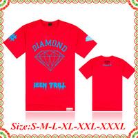 Free Shipping New Arrival Cheap  Brand T-Shirt Diamond Supply Co Men's Short Sleeve Hip Hop Men Fashion Diamond T Shirt 082